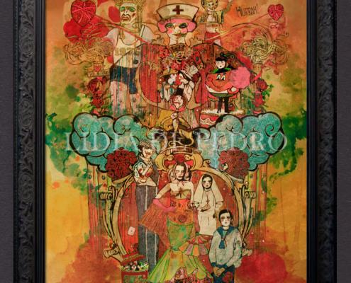 Lidia-de-Pedro_artist_Fiesta_painting