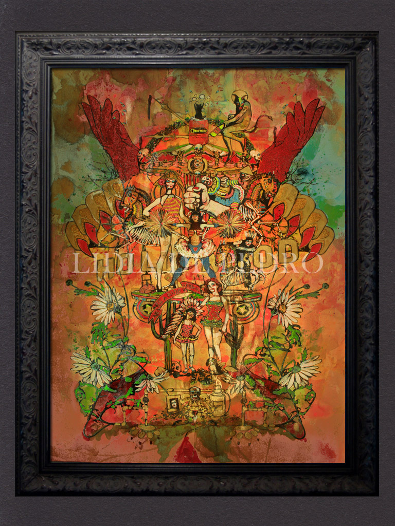 Lidia-de-Pedro_artist_Never-Ride-with-the-Evil_painting