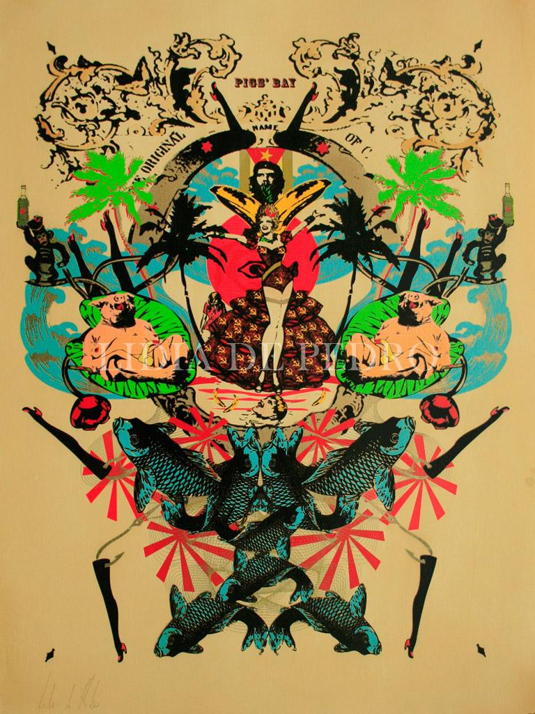 Lidia-de-Pedro_artist_Pigs-Bay_print