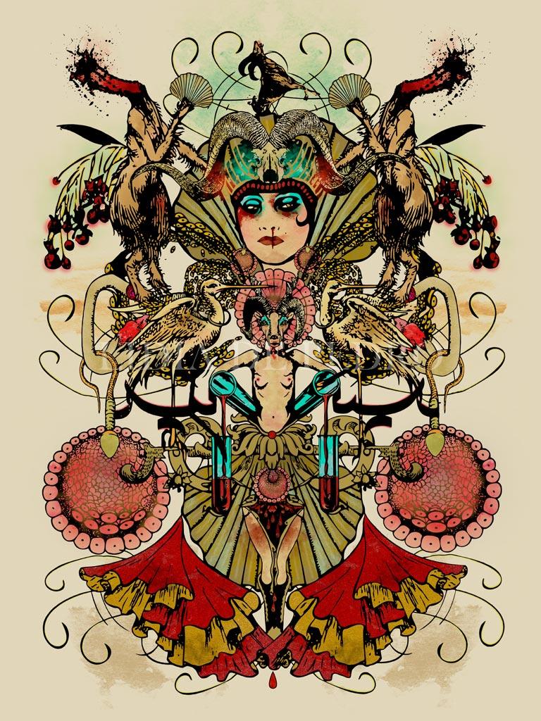 Lidia-de-Pedro_artist_Bleeding-Goat_giclee